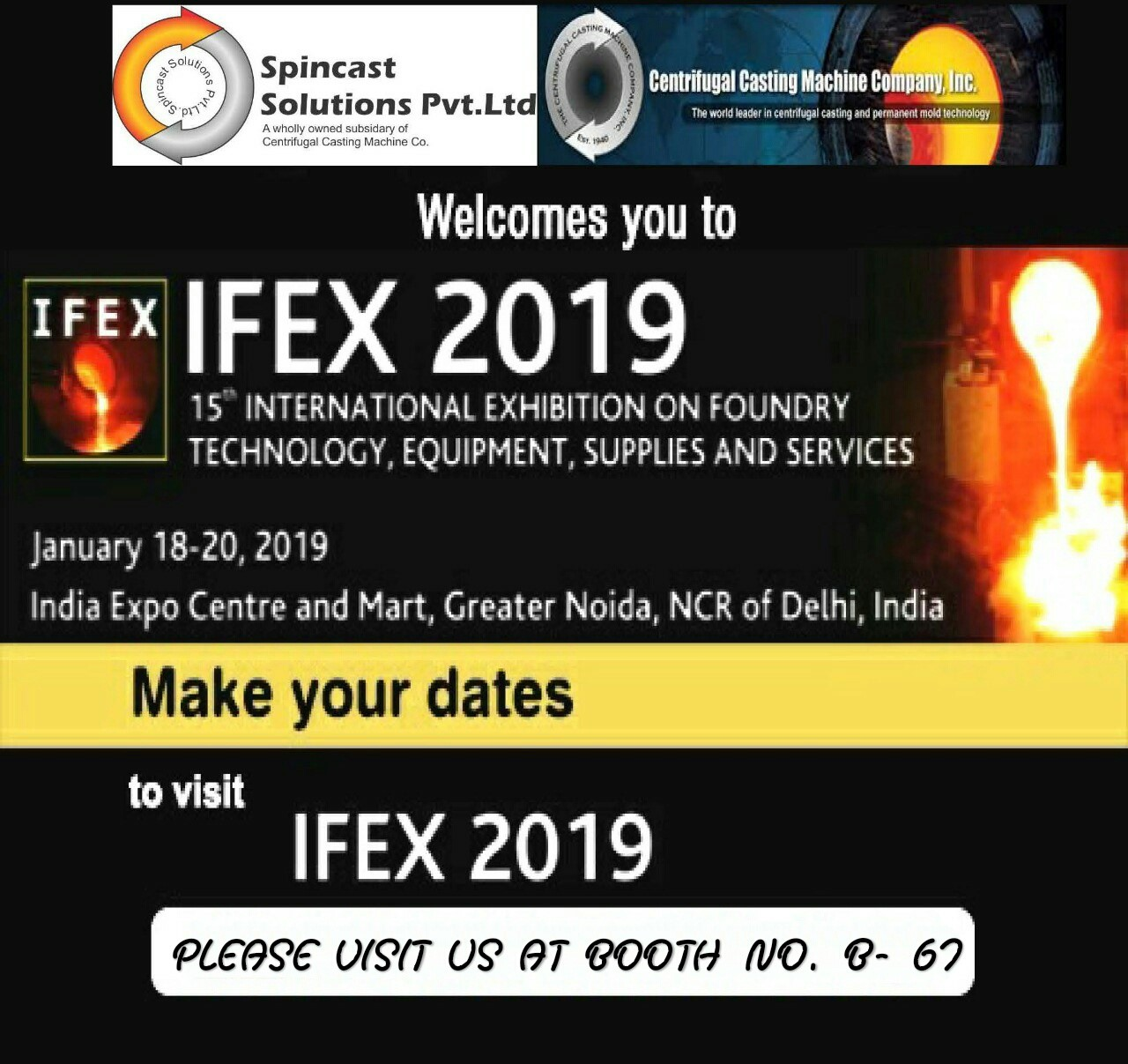 67th Indian Foundry Congress & IFEX 2019